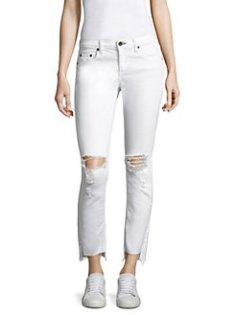 distressed jeans, rag&bone white jeans