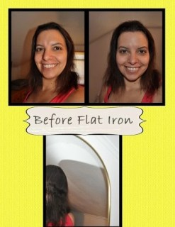 Dry Hair Before Flat Iron