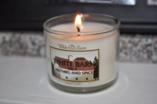Bath & Body Works Mini Candles from Influenster lit