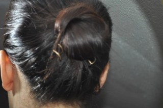 Goody Simple Style Spin Pins in a bun