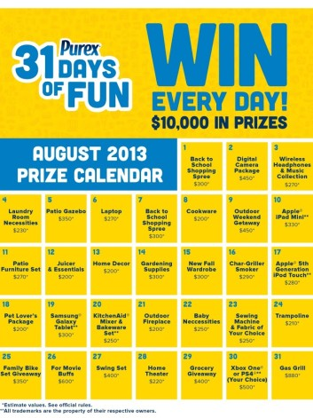 Purex 31 days of Fun Giveaways *Plus a separate giveaway just for my readers*