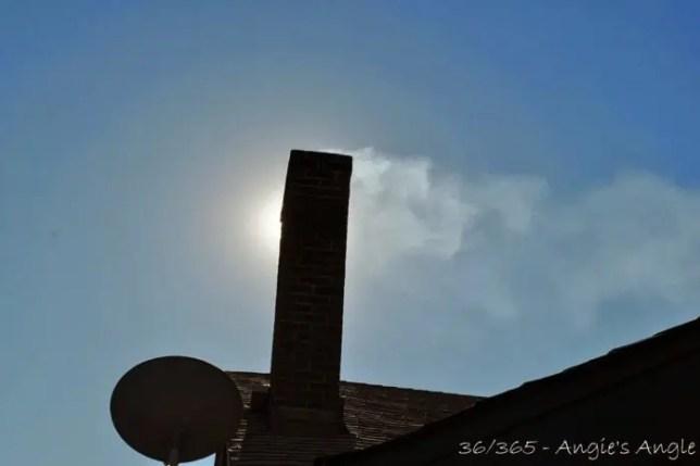 Day 36 - Chimney Smoke on a Windy Day - Angie's Angle