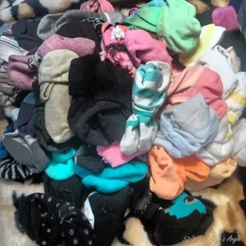 Day 52 - Pile of Socks as I was packing to what ones to bring - Angie's Angle