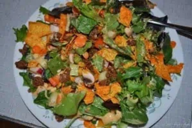 Day 63 - Beef Taco Salad for dinner