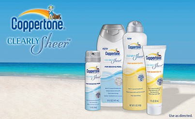 Protection from the Sun with Coppertone Clearly Sheer