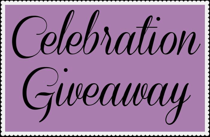 Celebration Giveaway #giveaway ends 8/15/14 at 10a.m.(PST)