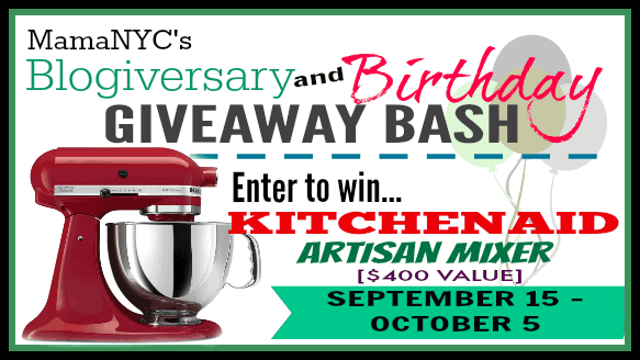 Blogiversary/Birthday KitchenAid Artisan Mixer Giveaway ends 10/5/14 #WinKitchenAid