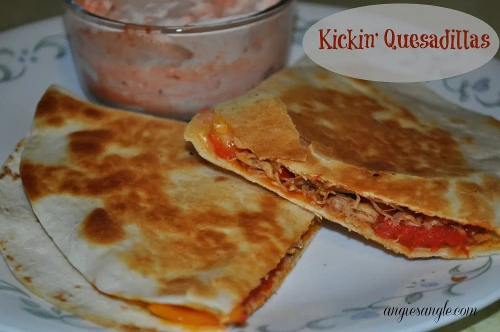 Kickin' Quesadillas made into a Mezzetta Recipe #MezzettaMemories #SharingJoy