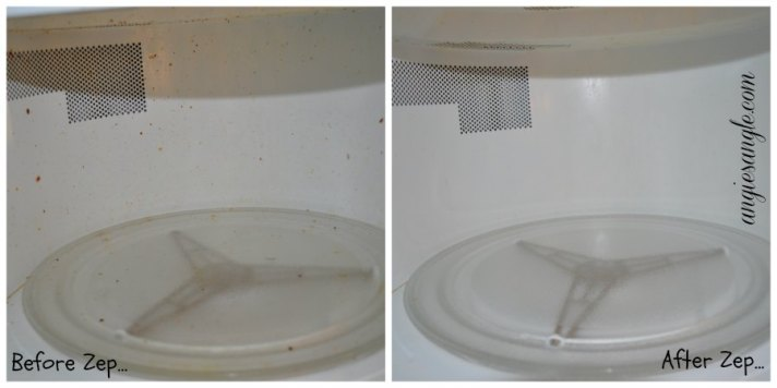 Zep Microwave Cleaner - Before and After Inner Microwave