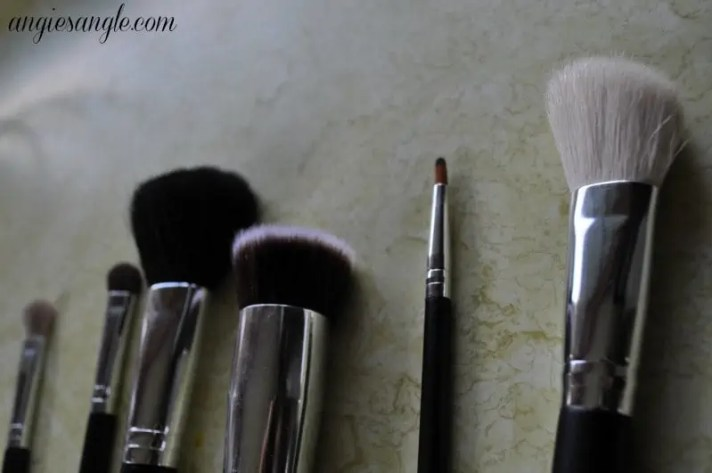 makeup brushes - in a row