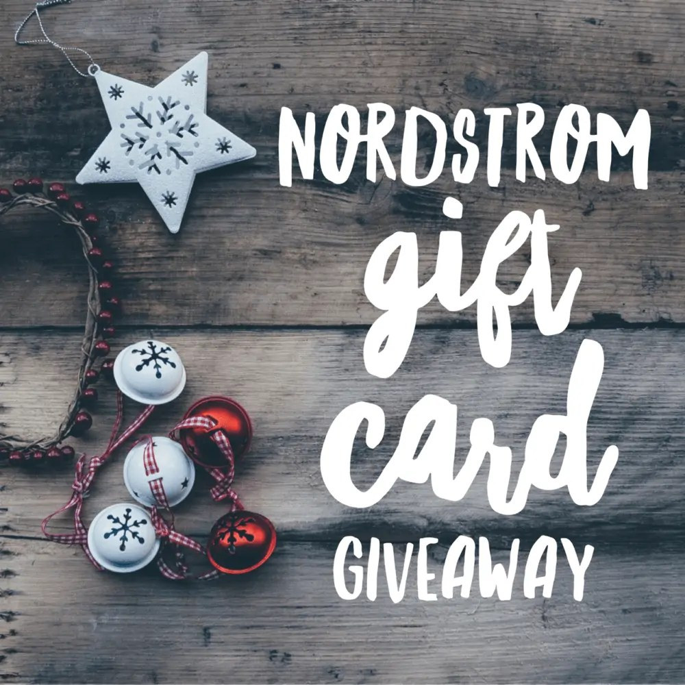 $200 Nordstrom Gift Card Giveaway ends 1/3/17