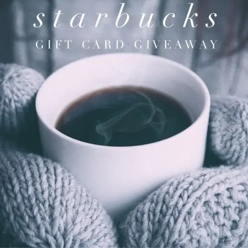 Starbucks Gift Card Giveaway ends 1/11/17
