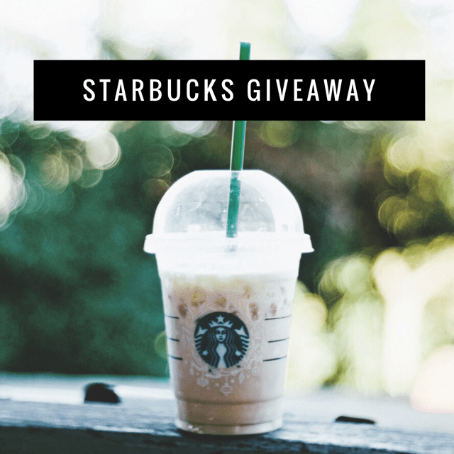 March Starbucks Giveaway ends 3/23/17