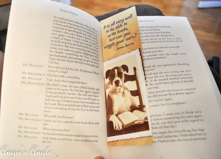 2017 Catch the Moment 365 Week 35 - Day 239 - New Book with Bookmark