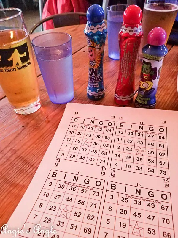 2017 Catch the Moment 365 Week 38 - Day 261 - Bingo at Thirsty Sasquatch (1)
