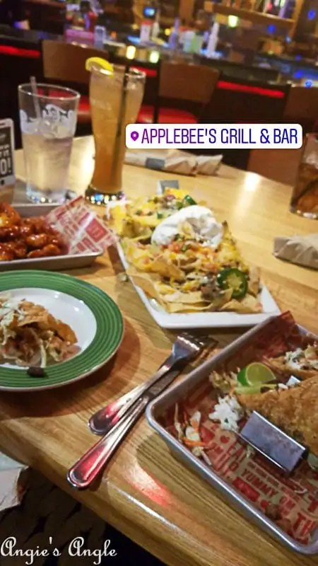 2017 Catch the Moment 365 Week 39 - Day 270 - Applebees Dinner