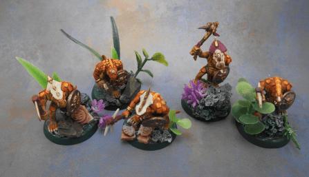 Rebasing Lizardmen - Saurus Warriors