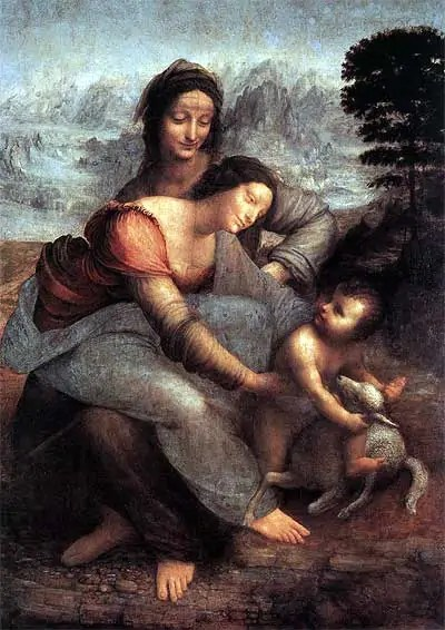 Leonardos-The-Virgin-and-Child-with-st-Catherine