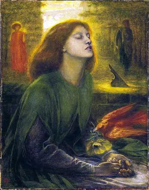 Dante Gabriel Rossetti Beata Beatrix 1863 My Ode to Poetry
