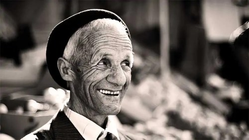 Casket Readiness: old man smiling
