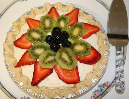 Cream Cheese Pie with Glazed Fresh Fruit