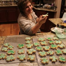 St. Patrick's Day Sugar Cookies 2014.