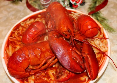 SPAGHETTI and Lobster Sauce