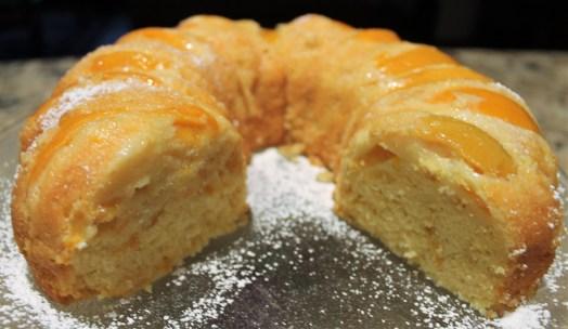 Easy Double Peach Pound Cake