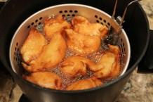 Frying Zeppole