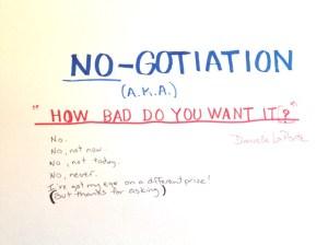 NO-gotiation