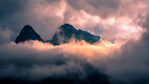 Sunset on the Bucegi mountains - Romania - Landscape photography