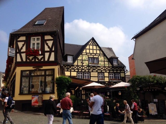 Ruedesheim, German historic half timbered Style Homes, Fachwerk