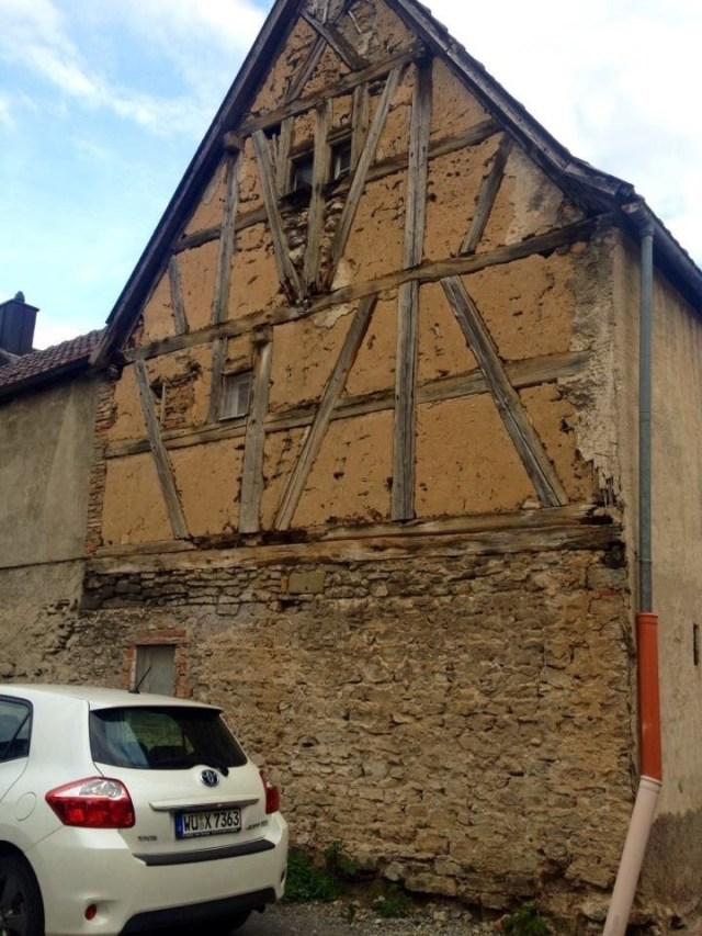 German half timbered Style Homes, Fachwerk underneath