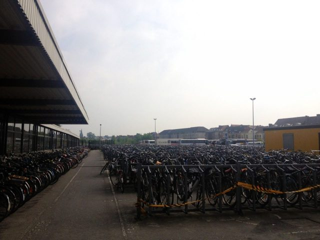 Bicycles at Ghent train station