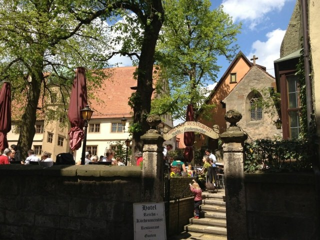Biergarten, Rothenburg o. T.