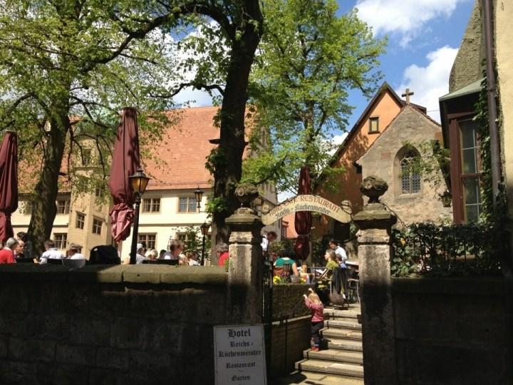 Biergarten, Rothenburg o. T.