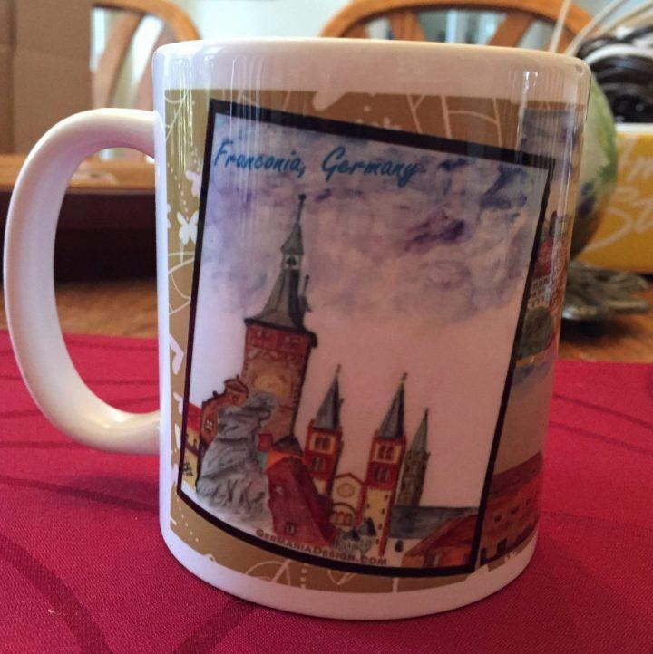 Wuerzburg watercolor mug