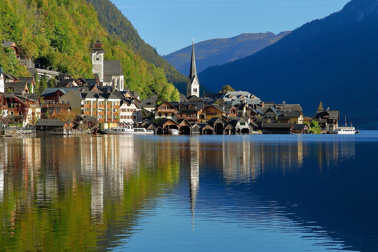 Hallstatt, Austria, view from the lake
