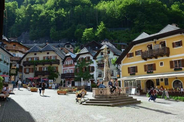 Hallstatt, Austria Market place