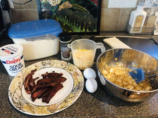 Onion Tart, Zwiebelkuchen ingredients