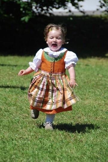 Small girl in Dirndl