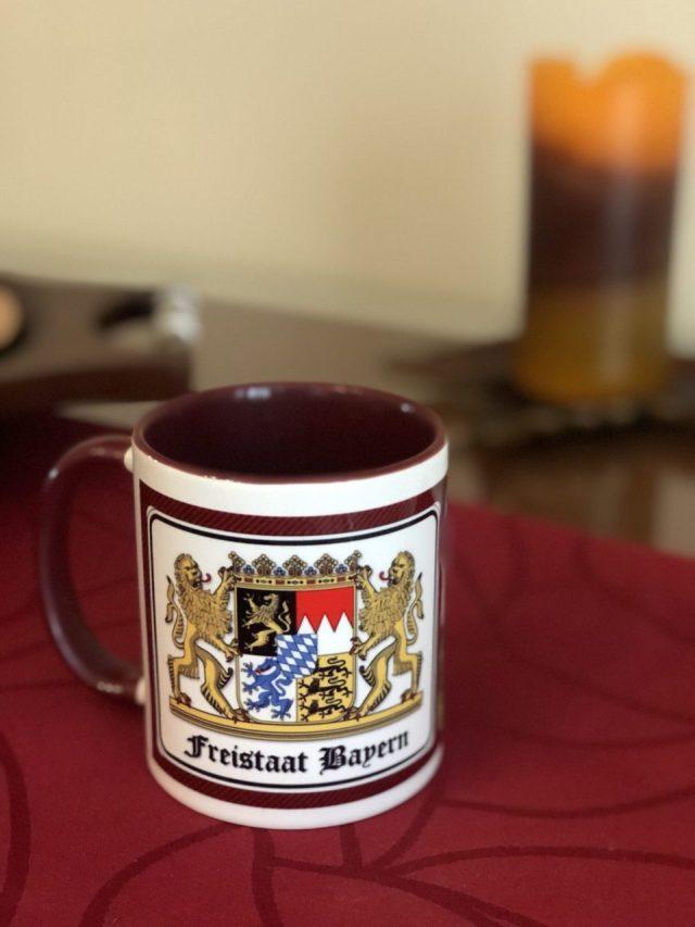 Back of Neuschwanstein watercolor mug, Wappen, coat of Arms