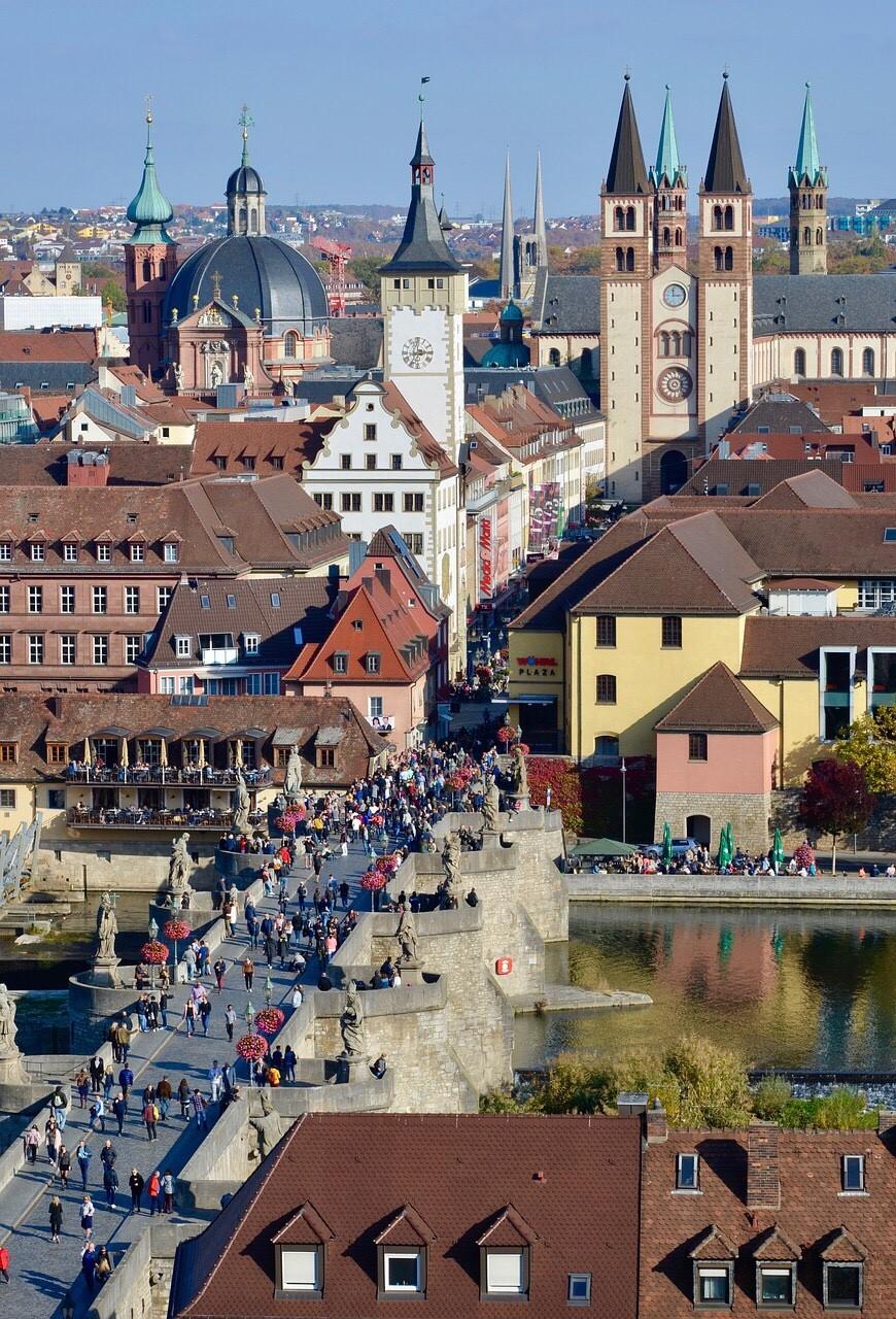 Wuerzburg, Lower Franconia, Bavaria, Alte Mainbruecke