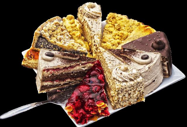 Variety of cream cakes, Torten
