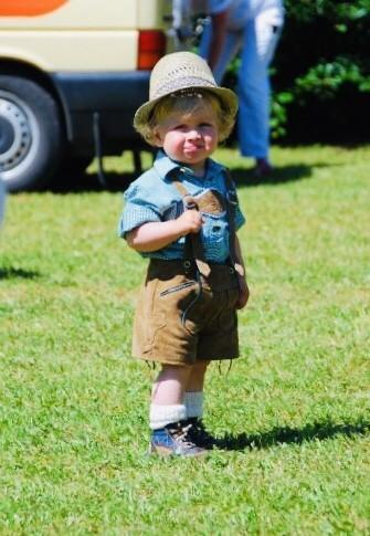Little boy in Lederhosen