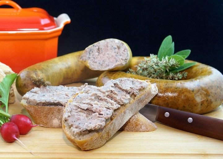 homemade Leberwurst, liverwurst