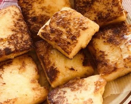 Semolina flour cakes, Griess Schnitten