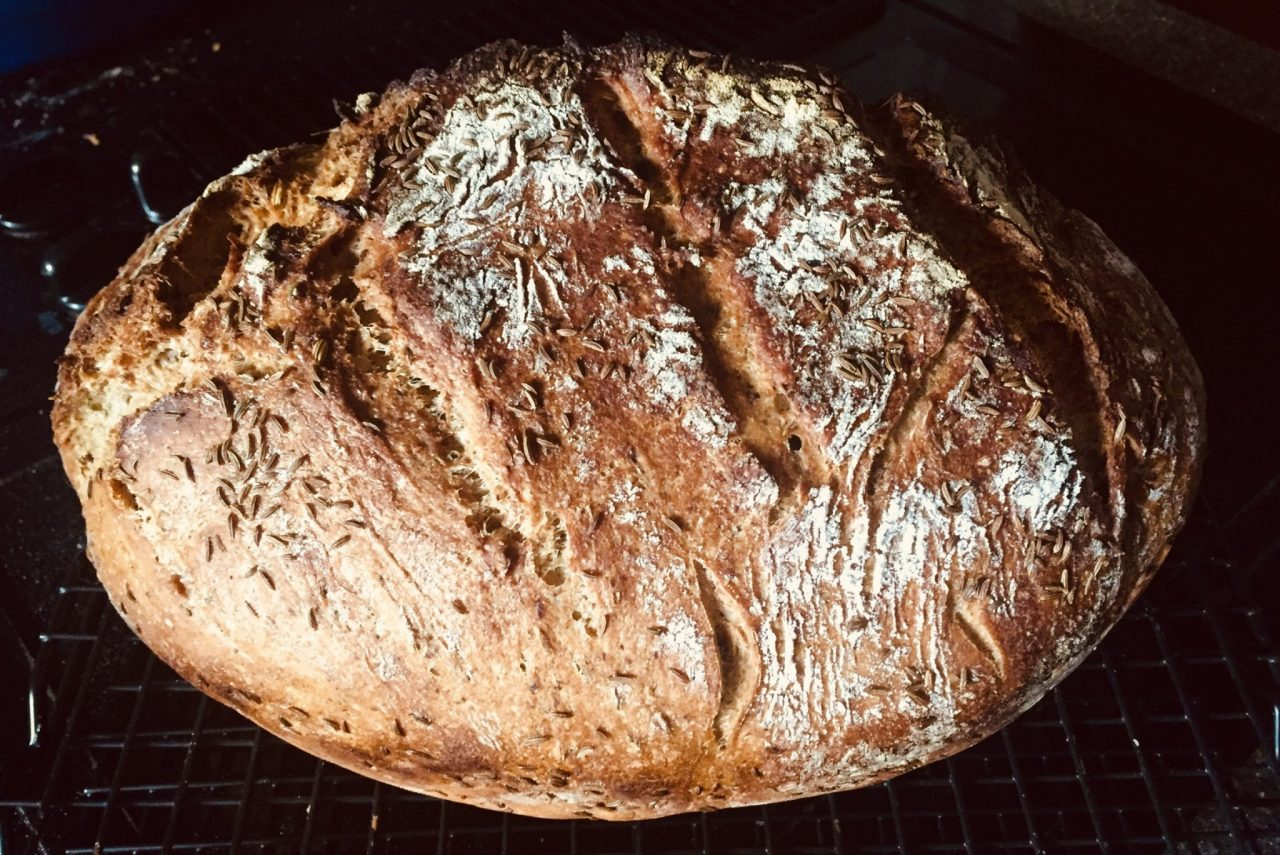 Mein Bauernbrot (No knead German Crusty Bread)