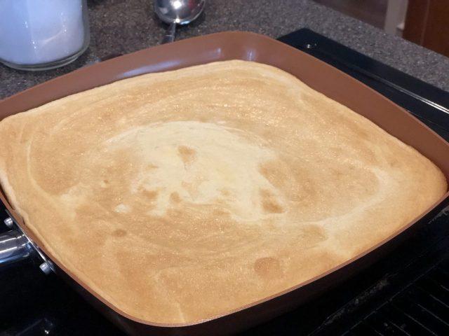 Kaiserschmarrn dough preparation, Austrian pancake