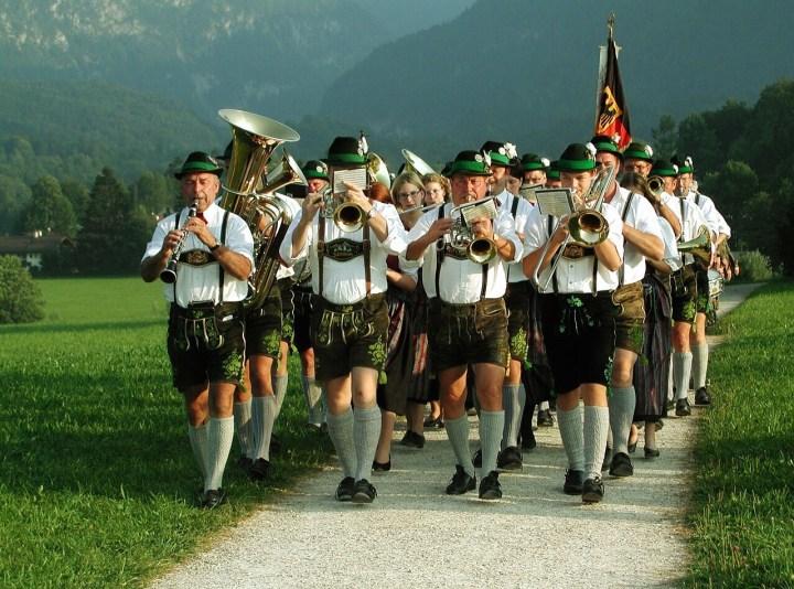 Bavarian men in Lederhosen